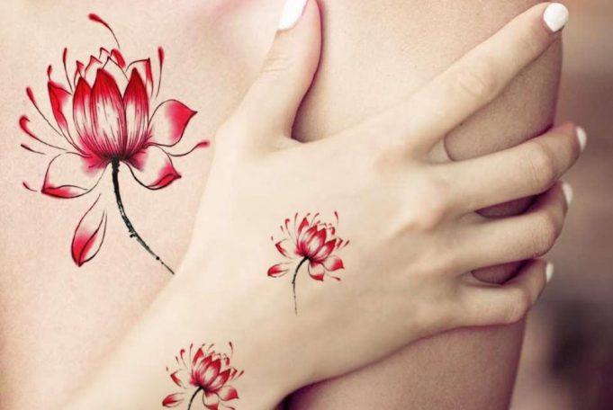 tatujajes de flor de loto