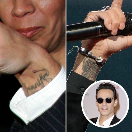 tatuajes de famosos con nombre de pareja marc antony