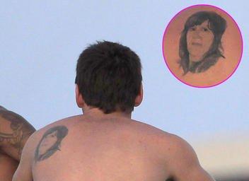 tatuaje de messi sobre su madre