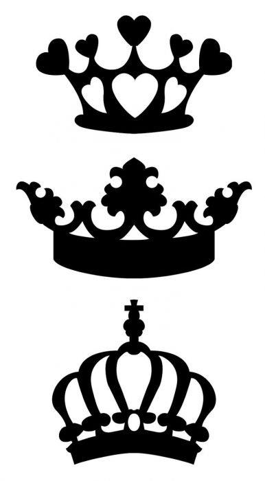 coronas plantillas tatuajes