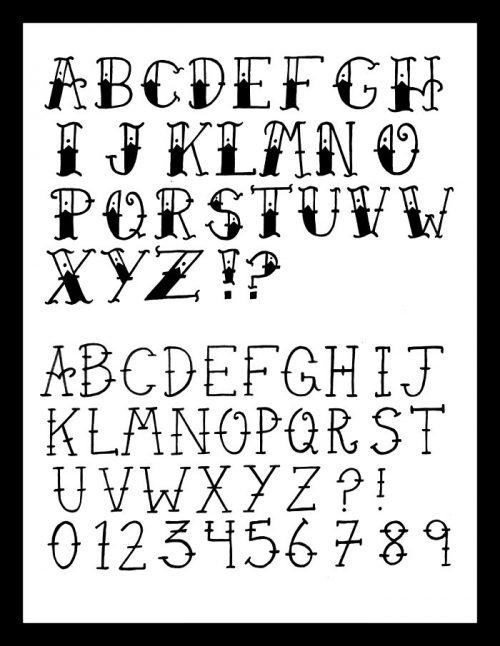 letras para tatuajes aztecas
