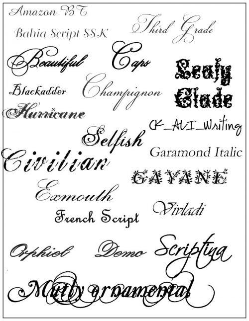 letras para tatuajes brenda