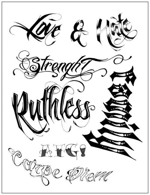 letras para tatuajes cholas