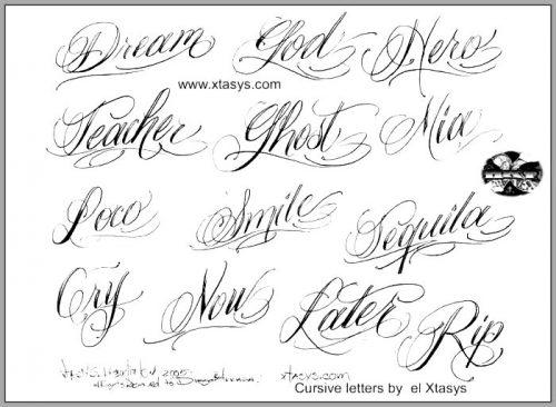 Letras Para Tatuajes 60 Fuentes 100 Muy Recomendadas