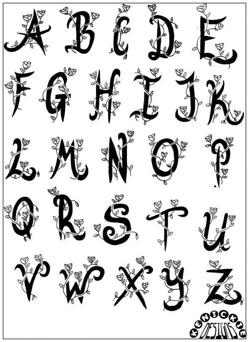 letras para tatuajes finos