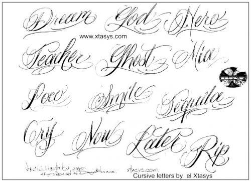 letras para tatuajes minimalistas