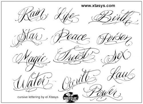 letras para tatuajes sencillas