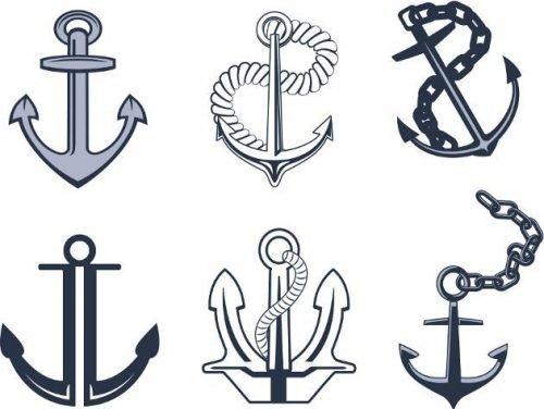 plantilla anclas para tatuajes