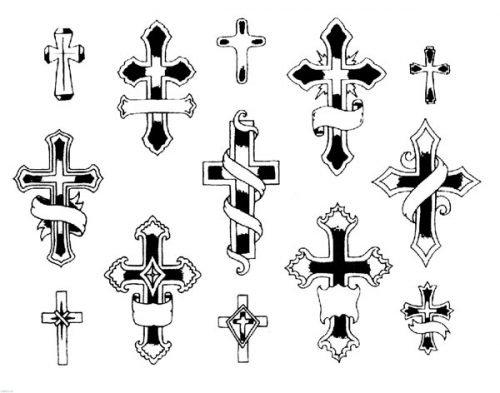 plantillas de tatuajes fáciles cruz