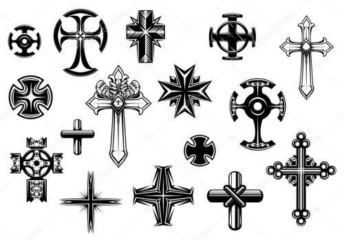 plantillas tatuaujes cruces