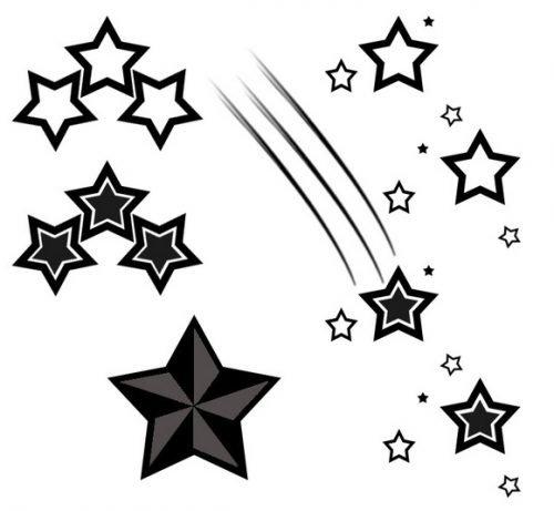 tatuajes estrellas fugaces