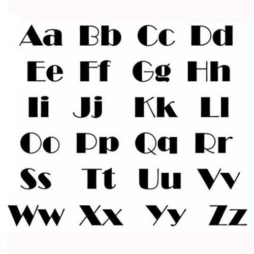 tatuaje letras estilo broadway