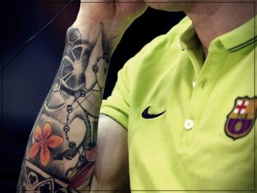 tatuaje messi cara