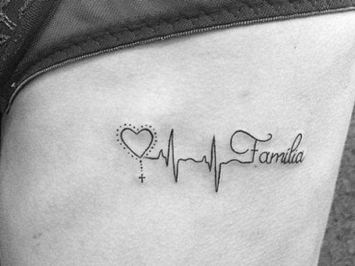 tatuaje palabra familia