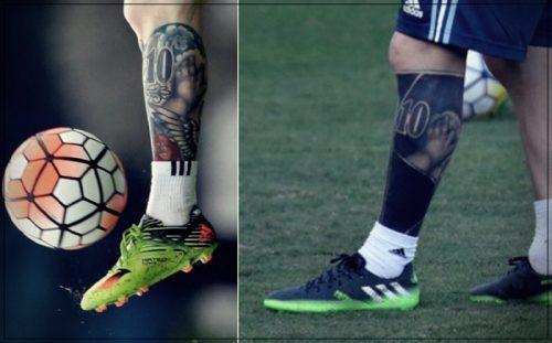 tatuajes de messi en la pierna significado