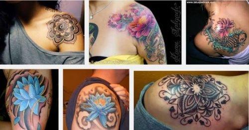 flor de loto en hombro