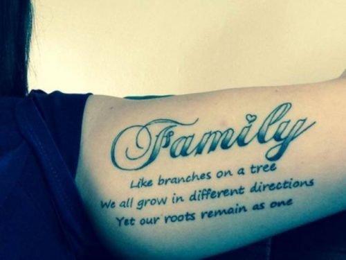 tatuajes sobre la familia