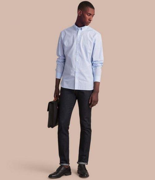Camisa azul pálido