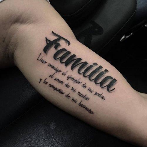 frases para tatuajes de hombre familia