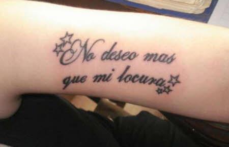 no deseo mas que mi locura tatuaje hombre
