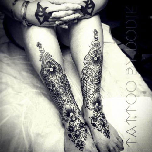 tatuajes en pierna mujer