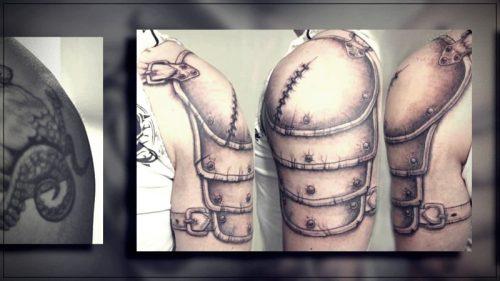 tatuajes estrellas para hombres hombro