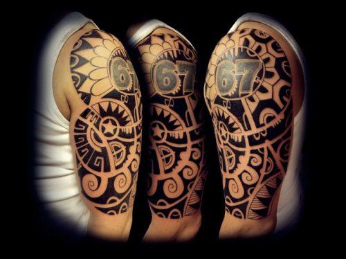 tatuajes modernos para hombres en el hombro