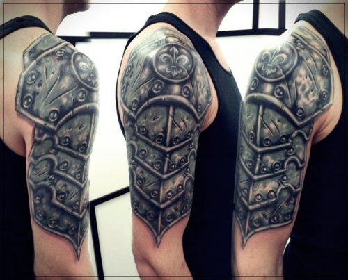 tatuajes para hombres en el hombro leones