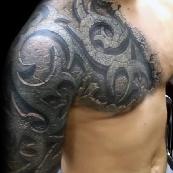 tatuajes 3d tribales 1