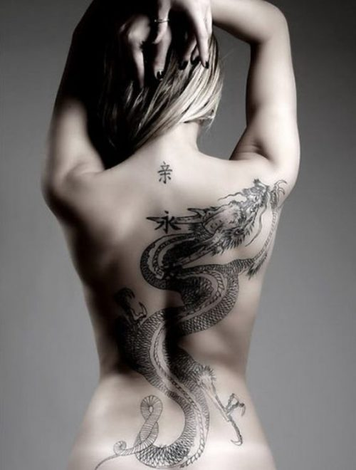 tatuajes de dragones japoneses pra mujeres