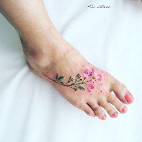 Tatuajes en el pie 6