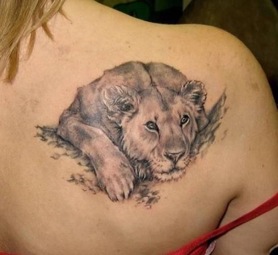 Tatuajes de leona
