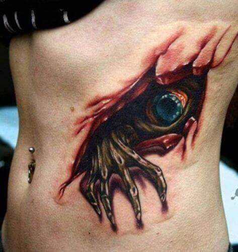 Tatuajes 3D costillas